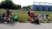 Crowd at Summerfest Parade in Casselton ND July 28 2012