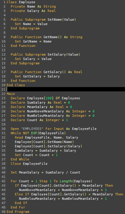 Pseudocode Syntax Highlighting