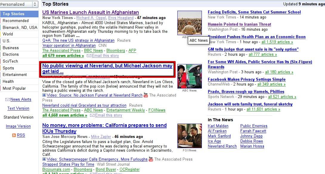 Google News - Michael Jackson